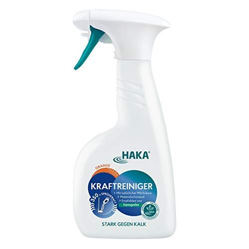 HAKA Kraftreiniger I 500ml I Kalkreiniger-Badreiniger für Bad, Glas, Dusche, WC und Fließen I Materialverträglichkeit getestet und empfohlen von Hansgrohe
