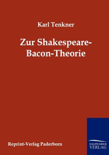 Zur Spakespeare-Bacon-Theorie (German Edition)