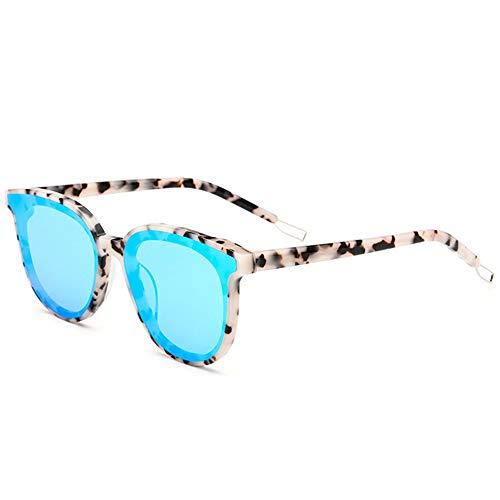 KK Zachary Gafas de Sol UV400 Plate Cat Eye Sunglasses Gafas De Sol Trend Trend Gafas De Sol Star (Color : Blue)