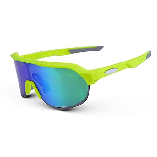 JIAYANLH Gafas de Sol Polarizadas Protección UV400 con 3 Lentes Intercambiables y Monturas,para Running MTB Bicicleta (B)