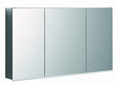 Geberit Optie Plus spiegelkast met verlichting, drie deuren, breedte 120 cm, 500592001-500.592.00.1