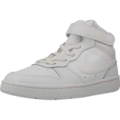 Nike Court Borough MID 2 (PSV) Sneaker, White/White-White, 33 EU