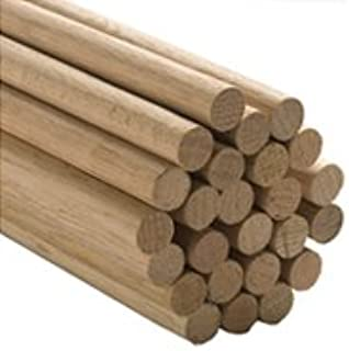 "5 Pcs, 5/8"" X 36"" Oak Wood Dowels Mix Of Red And White Oak Dowel Color May Vary."