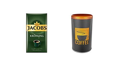 Jacobs Krönung Klassisch, 1er Pack Filterkaffee (1 x 500 g) Kaffeedose Rund Für 500 g Kaffee Lebensmittel CO