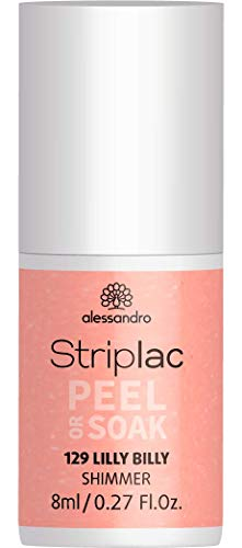 alessandro Striplac Peel or Soak Lilly Billy – LED-Nagellack in frischem Apricot – Für perfekte...