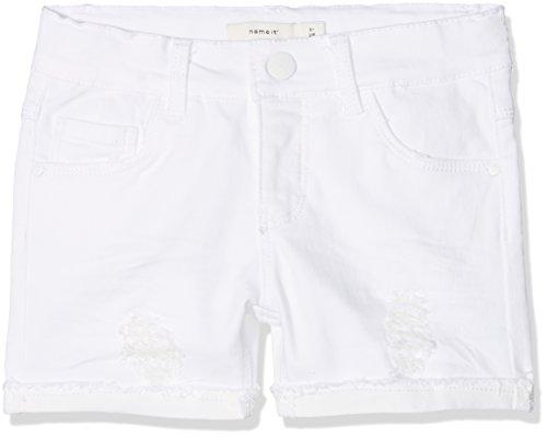 NAME IT NAME IT Mädchen NKFSALLI DNMTHYRA 8001 NOOS Shorts, Weiß (White Denim), 92
