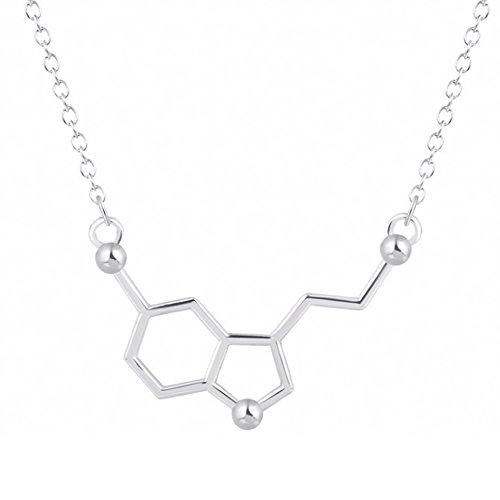 MESE London Serotonin Halskette 'The Spirit Child' Versilbert in Luxus Geschenkbox