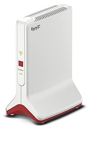 AVM FRITZ!Repeater 6000 (WiFi 6 Repeater mit drei Funkeinheiten: 5 GHz (2 x bis zu 2.400 MBit/s), 2,4 GHz (bis zu 1.200 MBit/s), 2,5-Gigabit-LAN, deutschsprachige Version)