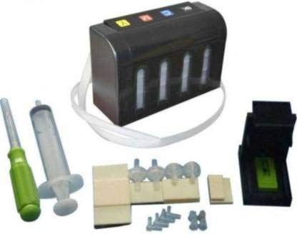 Ozer Ciss Ink Tank Kit Universal for All Canon & EPSON Printers & Inkjet Cartridges with Steel Clips & Ink Regulator Multi Color Ink Cartridge.Premium Quality Durable ABS Body
