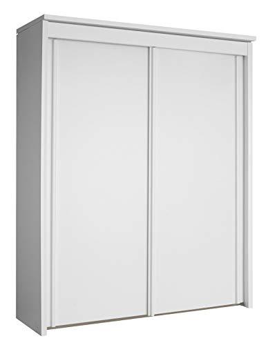 Rauch Möbel Imperial Schrank Kleiderschrank Schwebetürenschrank inklusive Zubehörpaket Basic 4 Einlegeböden 2 Kleiderstangen, Weiß, 65 x 200 x 235 cm