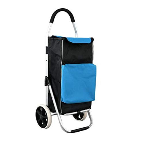 HHTD Trolley, Compras Carrito de Compras Plegable (Color : Blue)