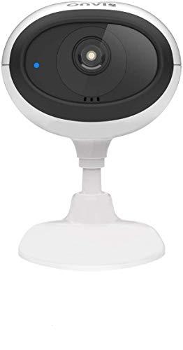 Onvis Telecamera C3 HomeKit Secure Video Nessuna Tariffa Mensile Video HD 1080P, HDR, Wi-Fi 5GHz & 2,4GHz, Visione Notturna Conversazione a Due Vie Sicurezza Casa Intelligente