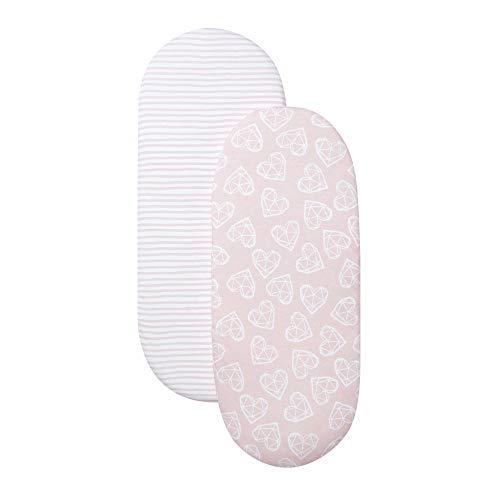 Shnuggle Moses Basket Sheets - Pink