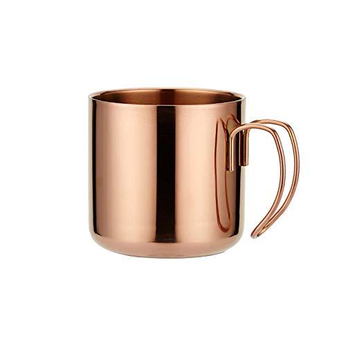 ELT Taza de café 304 de Acero Inoxidable Anti escaldado café Cerveza Taza de té de Doble Capa para té/café Leche Juego de 1 13,5 oz / 400 ml