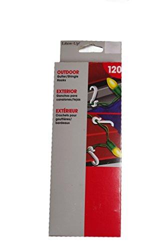 Shingle & Gutter Outdoor Christmas Light Clips Hooks 120 Pack