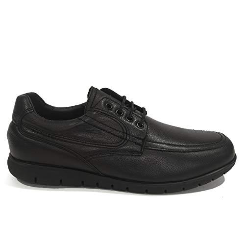 PAYMA - Herren Kellner Uniform Hotel Gastronomie Leder Schuhe Gepolstert. Wasserabweisende Mittel. Gummi Sohle. Mit oder ohne Schnürsenkel und Klettverschluss