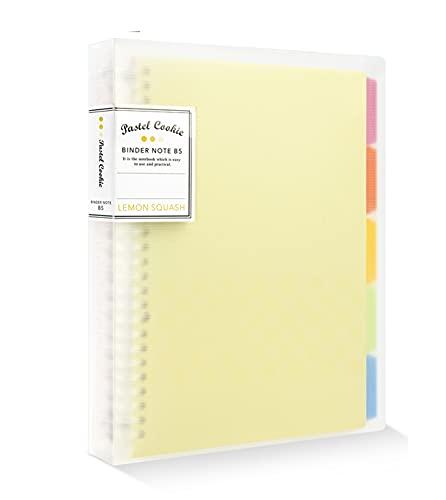 Cuaderno de 5 asignaturas para proyectos A5/B5/A4, cuaderno de notas rellenable, con forro para escritura de hojas sueltas