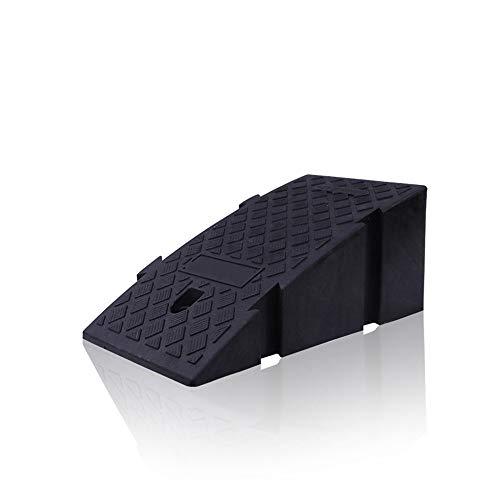 TnSok Rampen Durable 2 Stück Gummi Rampe Parken Mats Rahmen Kunststoff Slope Climbing Pad Pedal Eindickung Pad Trittbrett Ladder Rahmendreieck Erhöhen Autos LKW Mobilität Rollstuhl Durchgang