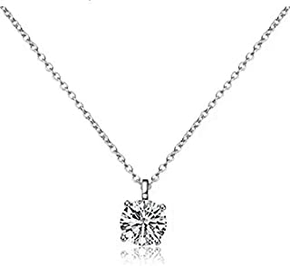 All for Love – 2.01 ct Zirconia Diamond Necklace Pendant with 925 Sterling Silver Chain and Gift Box