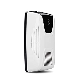 Automatic Air Freshener Dispenser Sensor Fan Fragrance Perfume Oil Diffuser Machine Wall Mounted/Free Standing Together with Empty Bottle for Bathroom Hotel Office White