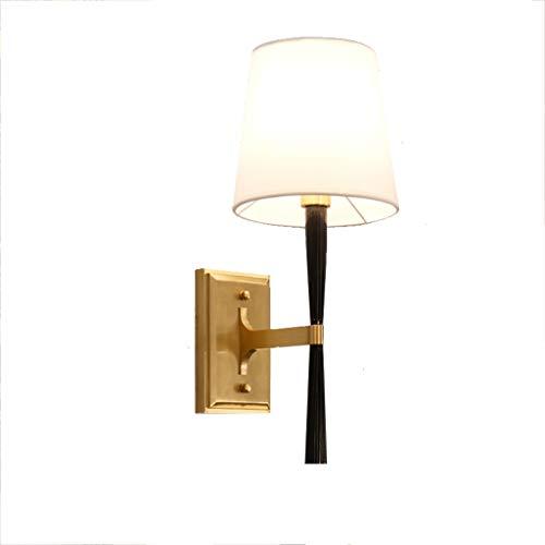 Lluminación de pared Lámpara de Pared Dormitorio Europeo Pasillo Pared Cálido Mesita de Noche Televisor Cristal francés Sala de Estar