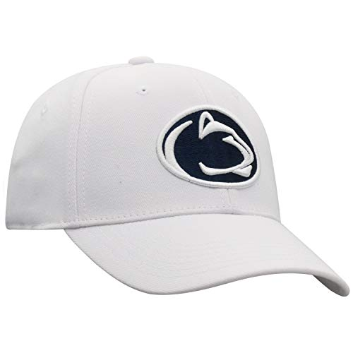 Top of the World NCAA Penn State Nittany Lions Premium Collection One-fit Memory Fit Hat, White, Adjustable