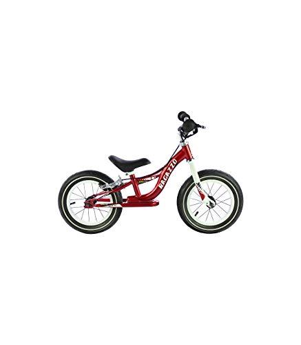 """Grupo K-2 Bicicleta Sin Pedales De Equilibrio para Niños con Cuadro de Acero Resistente y con Freno Trasero y Manillar Ergonómico   Rueda de 12""""   para Niños de 2 a 5 Años   Rojo"""