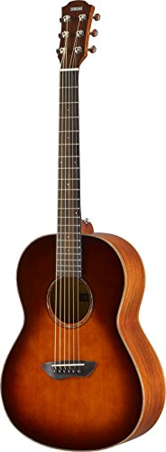 Yamaha CSF3M TBS All-Solid Parlor Size Acoustic Guitar, Old Violin Sunburst,Tobacco Brown Sunburst