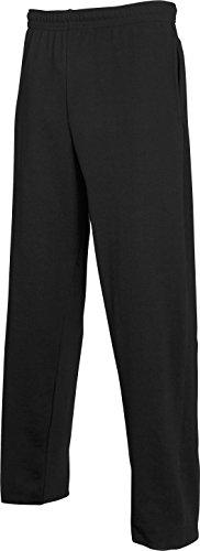 Fruit of the Loom Herren Lightweight Jog Pants Sport Jogger, Schwarz (Black 101), W35 (Herstellergröße: L)