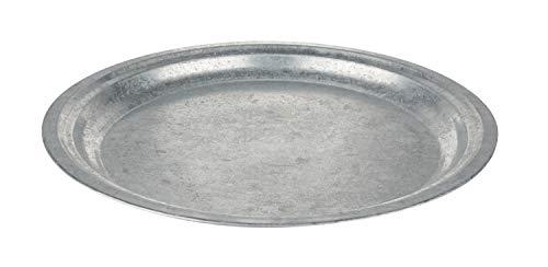 Metall Teller, zinkoptik Ø 35,5 cm