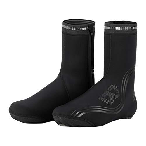 Pandiki Funda para Calzado de Bicicleta, Funda para Calzado de Bicicleta Impermeable y Resistente al Viento y cálida de Invierno para Hombre, Zapatos de Goma para Bicicleta de montaña, M Hembra
