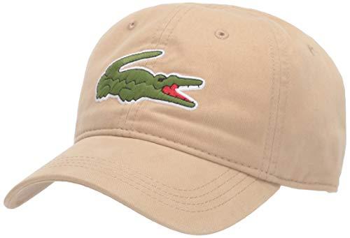 Lacoste Mens Classic Big Croc Gabardine Cap Cap, Viennese Tan, One Size