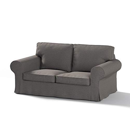 Dekoria Ektorp 2-Sitzer Schlafsofabezug ALTES Modell Sofahusse passend für IKEA Modell Ektorp grau