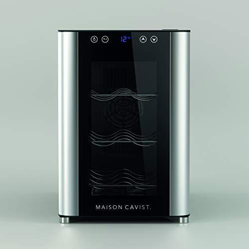 CAVIST Refrigerador de vinos C6 / 37.8 cm / 6 botellas Refrigerador / 3 estantes de metal