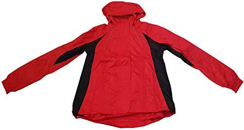 Crivit Outdoor Damen Regenjacke Wind und Wasserdicht mit Versiegelten Nähten S 36/38 Rot