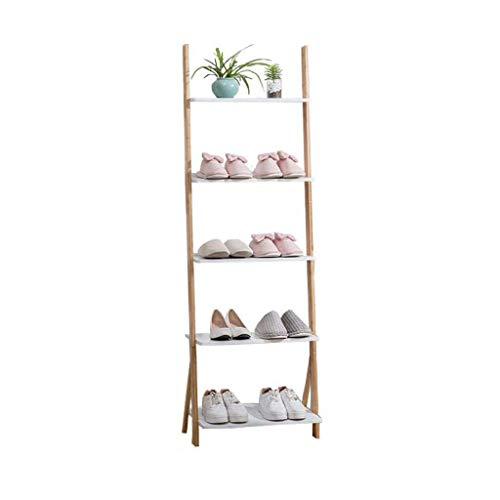 HLL Estante de pared minimalista nórdico, esquina de dormitorio, estante de almacenamiento trapezoidal creativo, estante de zapatos, estante de flores, estante de almacenamiento de múltiples capas,53