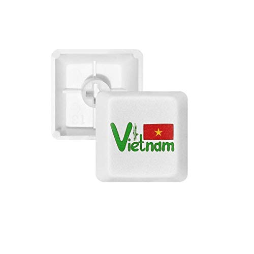 Vietnam National Flagge Rot Grün Muster, PBT Tastenkappen für Mechanische Tastatur Weiß OEM-Nr. Markieren Print Mehrfarbig Mehrfarbig R1