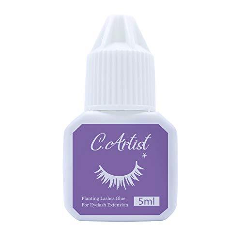 Eyelash Extension Glue for both Self and Professional Applications | Tasteless Non-Stimulating | 3-5 Sec Drying Time | Retention 20-25 Days | Sensitive Black Eyelash Glue, 5ml