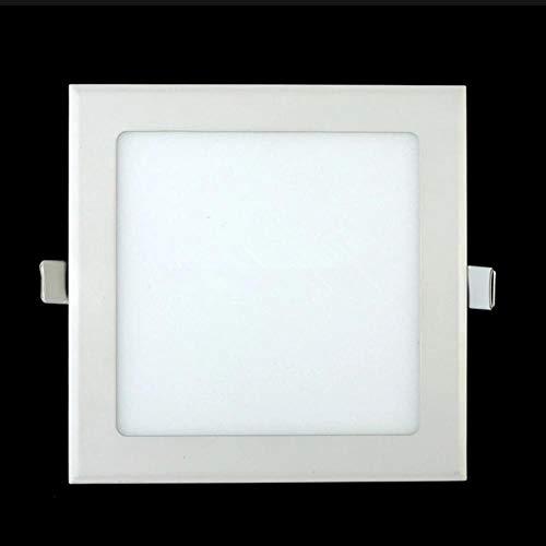 3W / 6W / 9W / 12W / 15W / 25W LED techo Rejilla empotrada ultrafina Panel de luz panel cuadrado delgado Spot light-Cold_white_6W