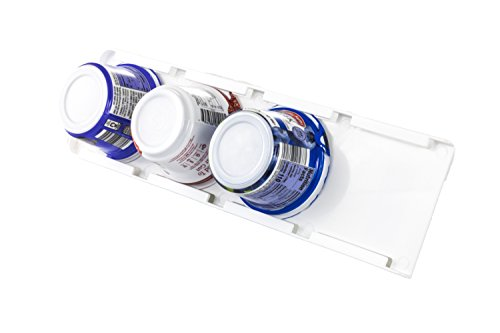 Sliding Greek Yogurt Refrigerator Organizer | Peel & Stick | Space Saving | No Hardware Required | 2 Pack | White Color