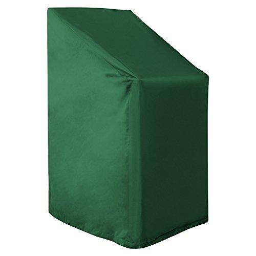 WOLTU GZ1192gn Housse de Protection pour Fauteuil de Jardin Couverture de Meubles de Jardin 65x65x120/80 cm, Vert