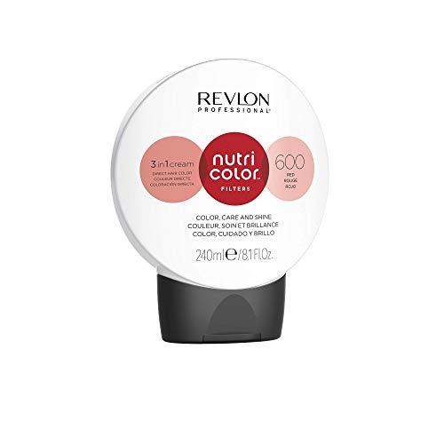 REVLON PROFESSIONAL Nutri Color Filters Maschera Colorata Capelli, Protettiva, Istantanea e Multidimensionale, Rosso - 240 ml