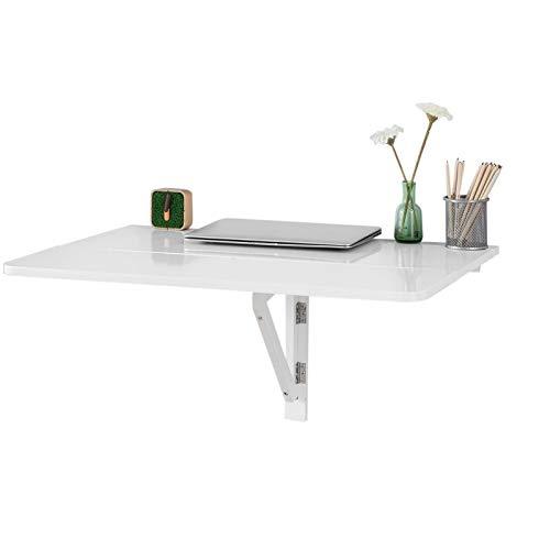 SoBuy® Tavolo da muro pieghevole, 80 * 60cm,2x pieghevole, bianco,FWT02-W,IT
