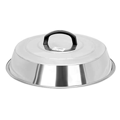 Coperchio Per Padelle Acciaio Steel Pan coperchio Wok copertura in vetro temperato coperchio cucina Large Size sostituzione Pot Coperchi (Size : 48CM)