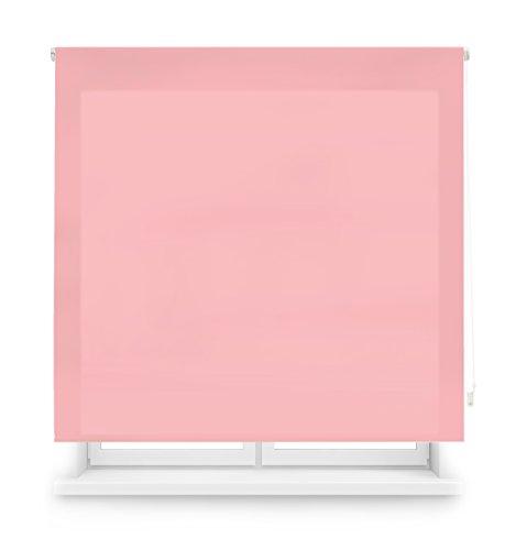 Blindecor Ara Estor enrollable translúcido liso, Rosa, 120 x 175 cm