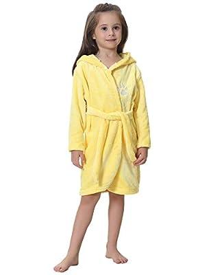 iClosam Kids Unisex Bathrobes Soft Flannel Animal Pajamas Bathrobes Hooded Sleepwear for Girls&Boys 1-8Years