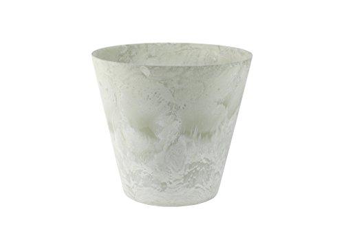 Artstone Pflanzgefäß, Pflanzkübel Claire, frostbeständig und leichtgewichtig, eukalyptus, 37x37x34 cm, 136208