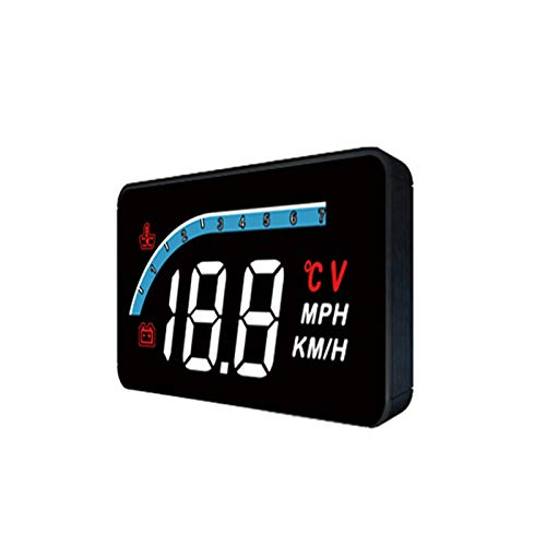 KKmoon Coche Head up Display HUD, OBD2 Medidor Sistema Coche HD Encabezar Pantalla, Coche Velocímetro HUD Reflector, Display Speed RPM Voltage, Eliminación de Código de Falla OBD