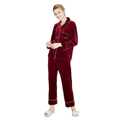 Susenstone Ensemble Pyjama Femme Hiver Polaire Pas Cher Lingerie De Nuit Sexy Chic Robe De Chambre Velours VêTements De Nuit