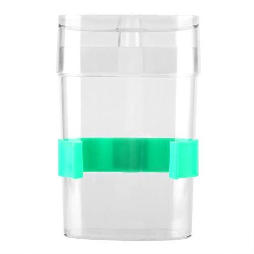 Vogel automatische Wasserzufuhr, Vogelkäfig automatische Trinkwasser-Feeder-Flasche, Wellensittich Nymphensittich automatische Wasserzufuhr Trinker (Transparent + Grün)
